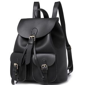 Handbags - Black womens/girls backpack
